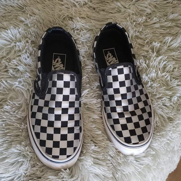 Vans Shoes   Checker Van Silver And